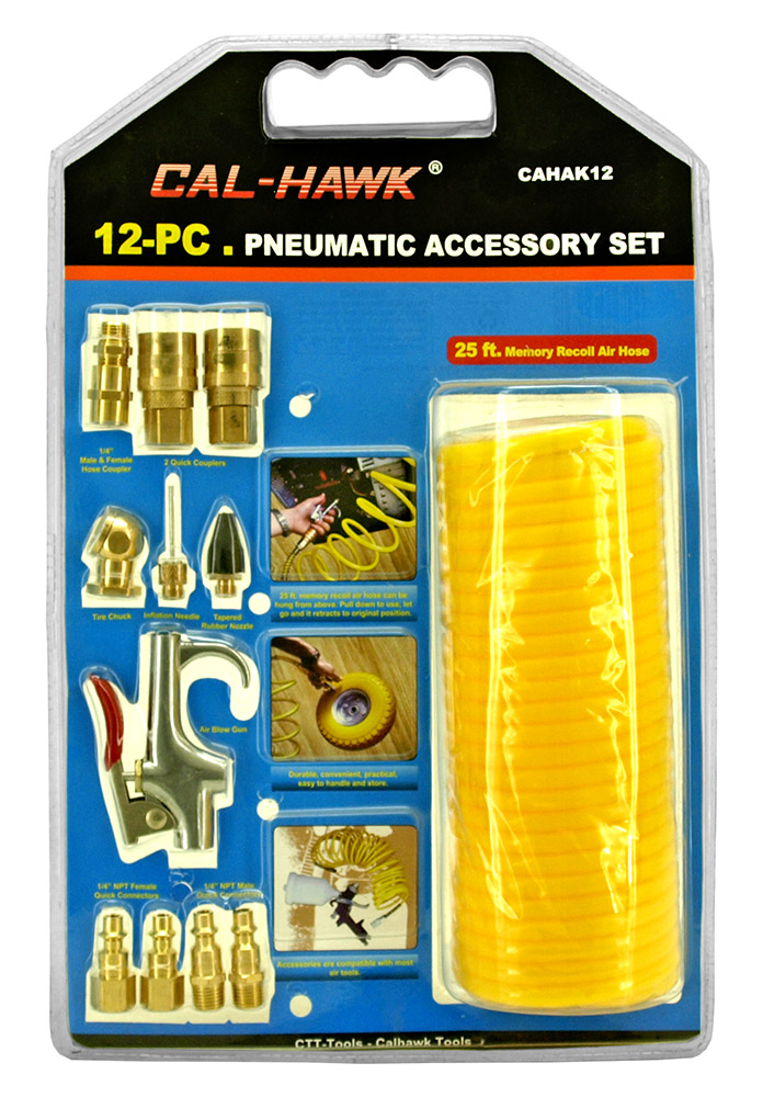 12 - pc. Pneumatic Accessory Set