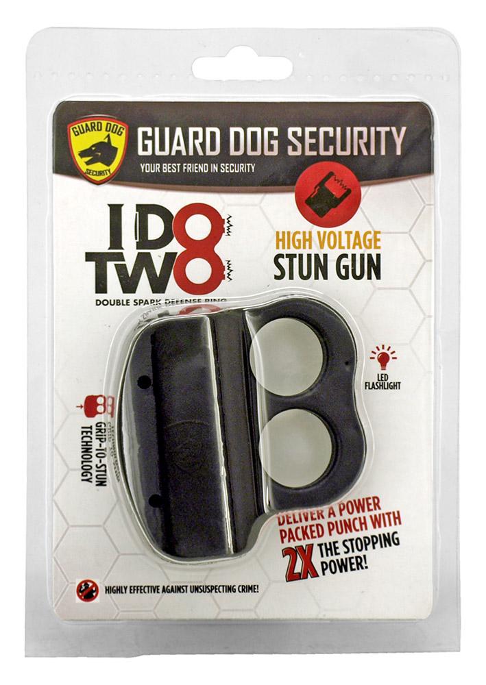 Double Spark Defense Ring Stun Gun - Black