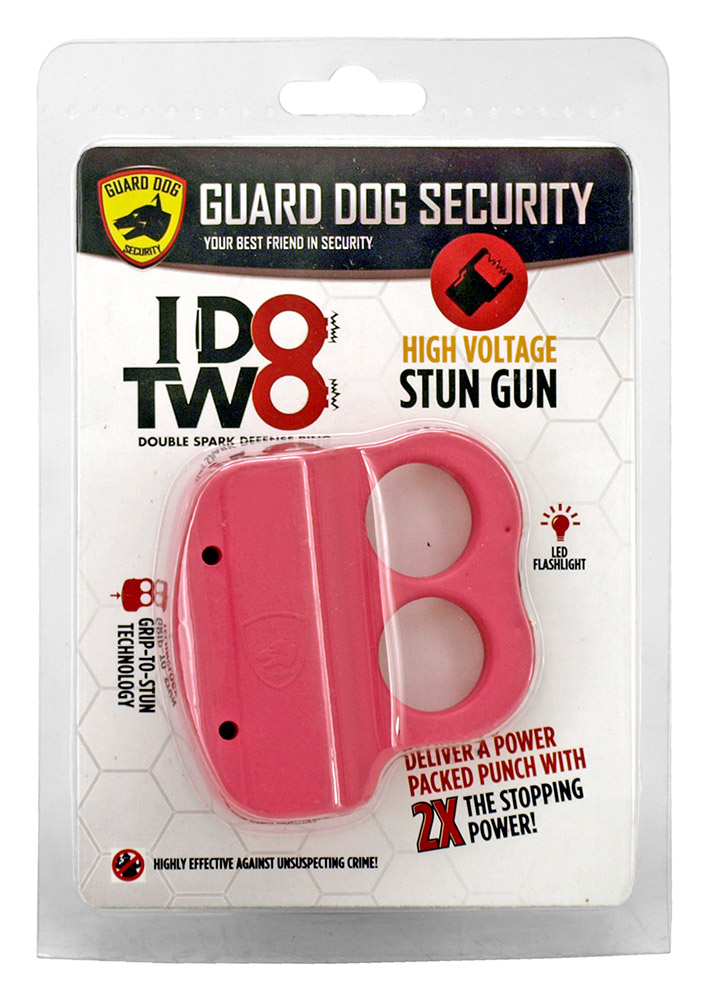 Double Spark Defense Ring Stun Gun - Red