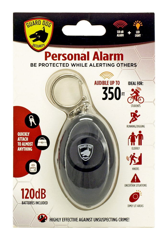 Personal Key Chain Alarm - Black