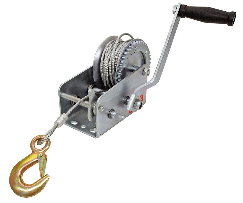2,000 Lbs. Steel Cable Hand Winch