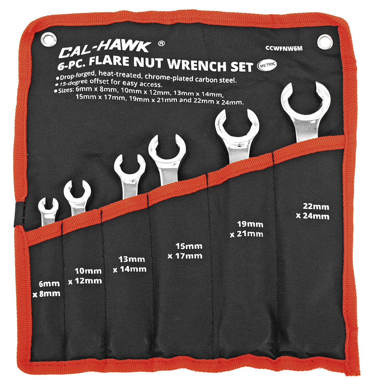 6-pc. Plare Nut Wrench Set - Metric