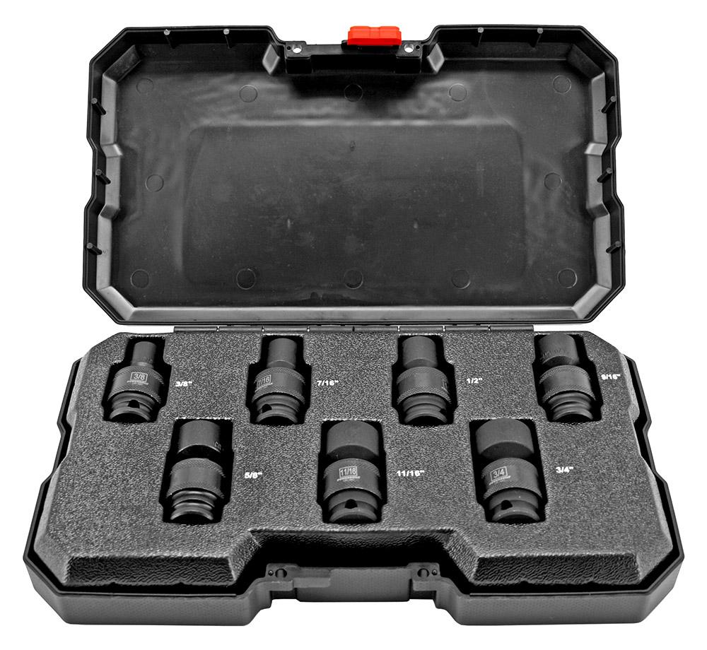 7 - pc. Universal Impact Socket Set