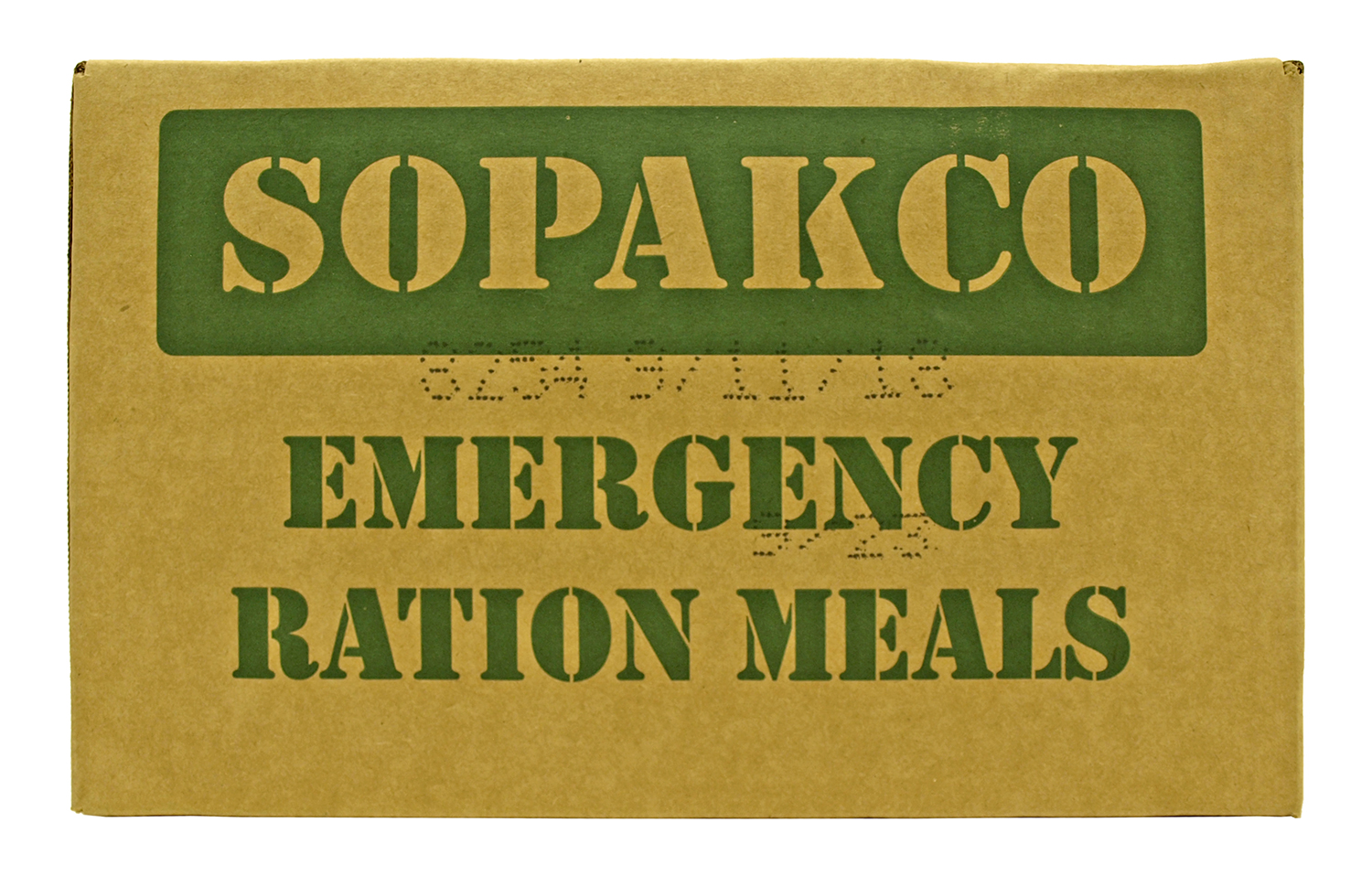 Box of 16 Sopakco Meals Ready to Eat (MREs) - Produced 9/11/2018