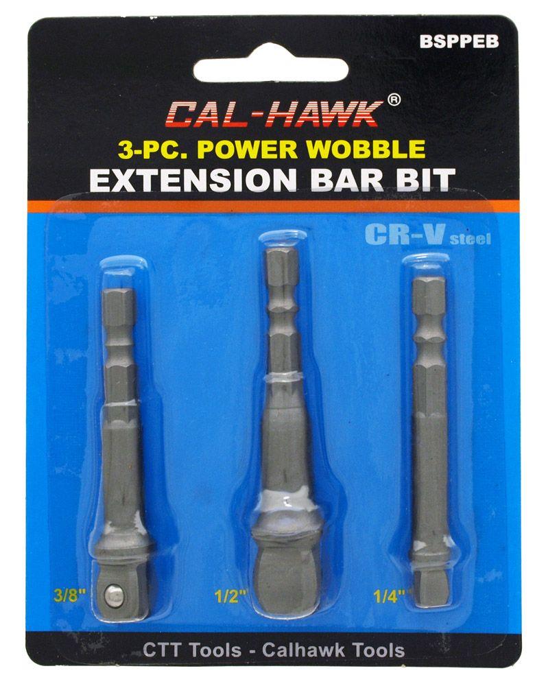 3-pc. Power Wobble Extension Bar Bit