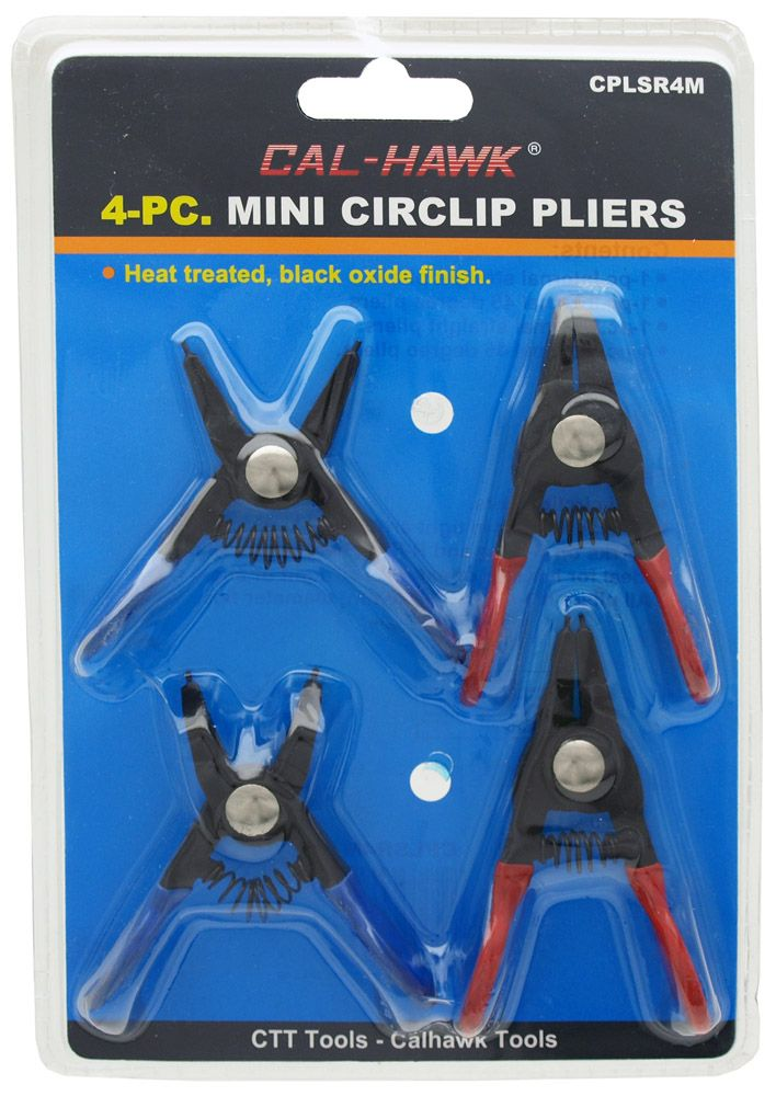 4-pc. Mini Circlip Pliers