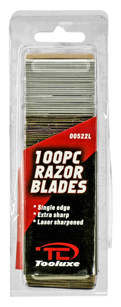 100 - pc. Razor Blade Pack