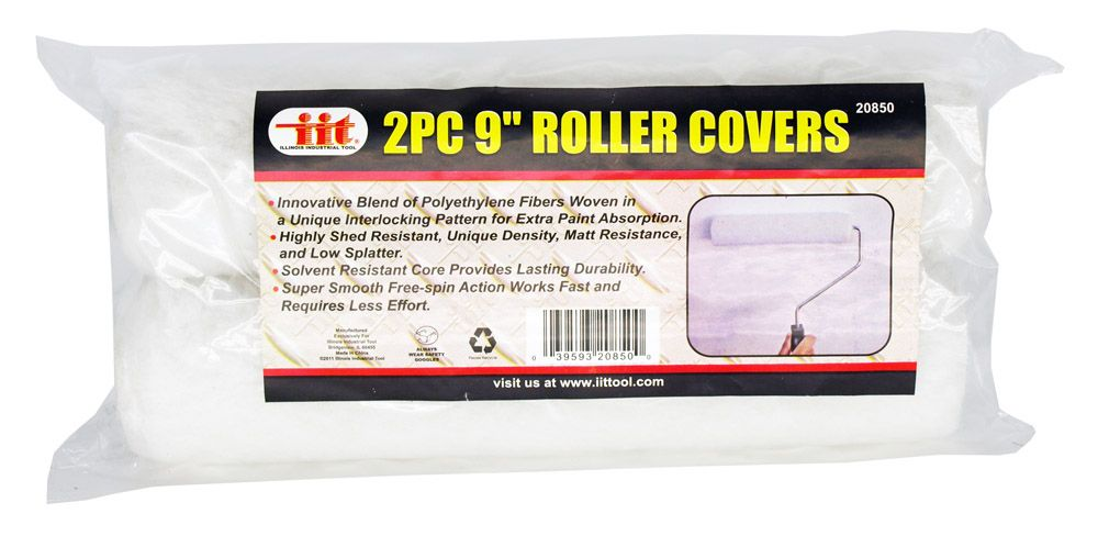 2-pc. 9 in x 1-3/8 in Roller Covers