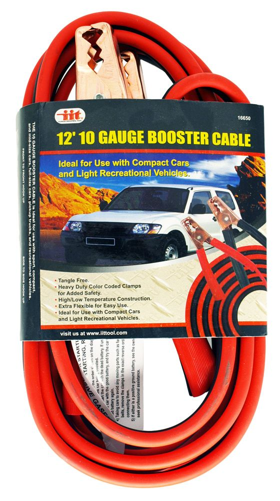 12' 10 Gauge Booster Cable