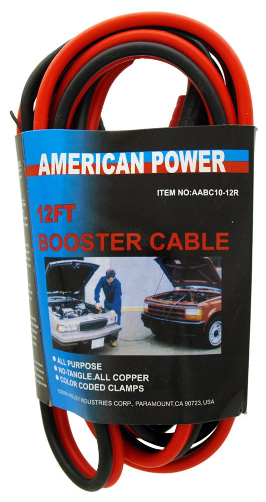 12' Booster Cable - 10 Gauge