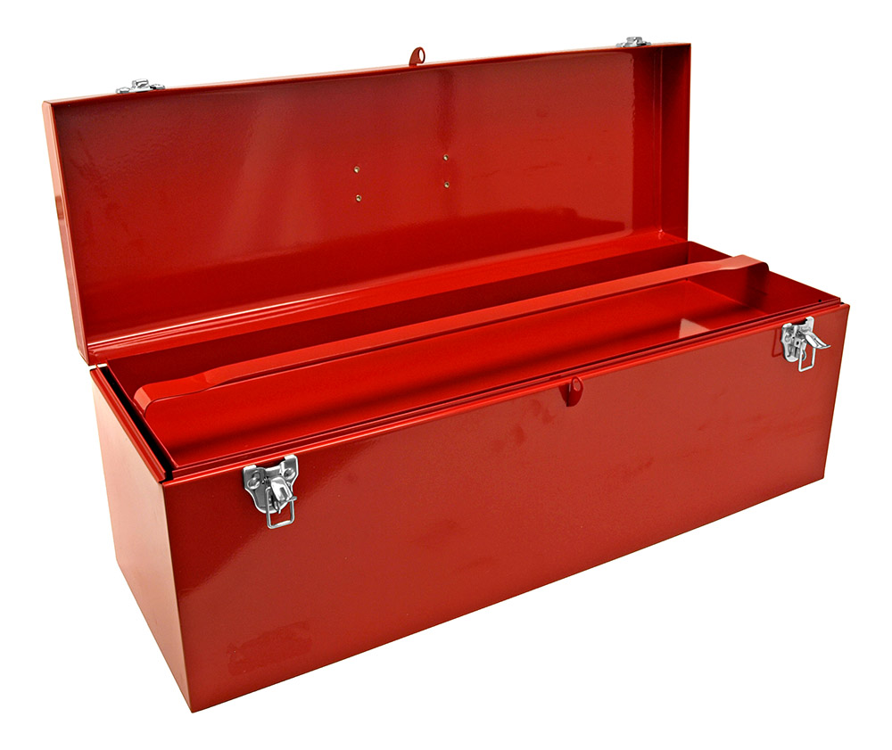 Classic Metal Tool Box - Red