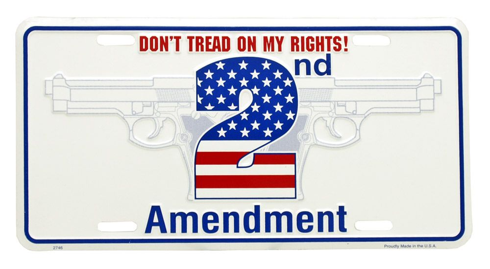 Don't Tread on My Rights License Plate