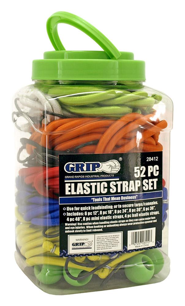 52 - pc. Elastic Strap Set - Assorted Colors