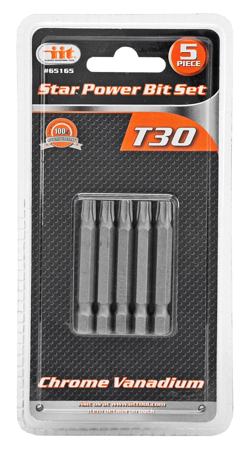 5-pc. Power Bit Set - T30 Torx Star