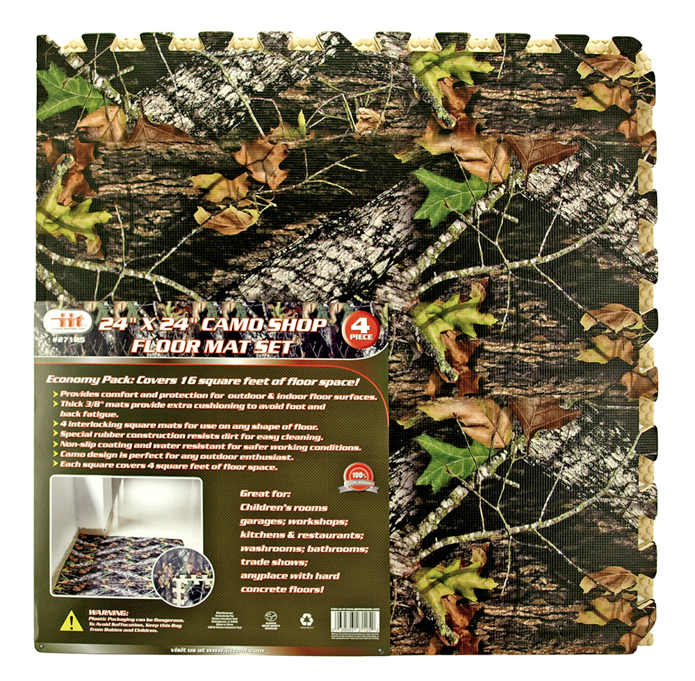 24 in x 24 in Camo Shop Floor Mat Set