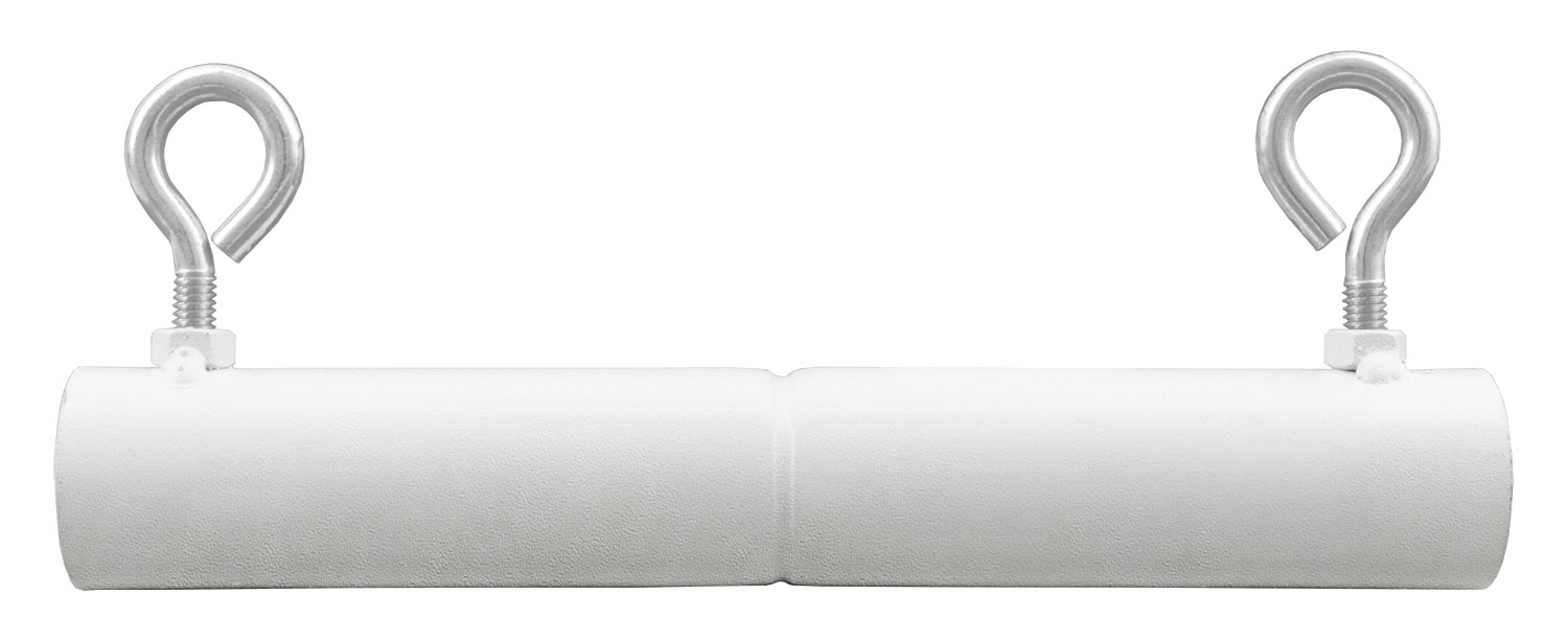 1-3/8 in 2-Way Extension Connector Canopy Fitting - White Powder Coated