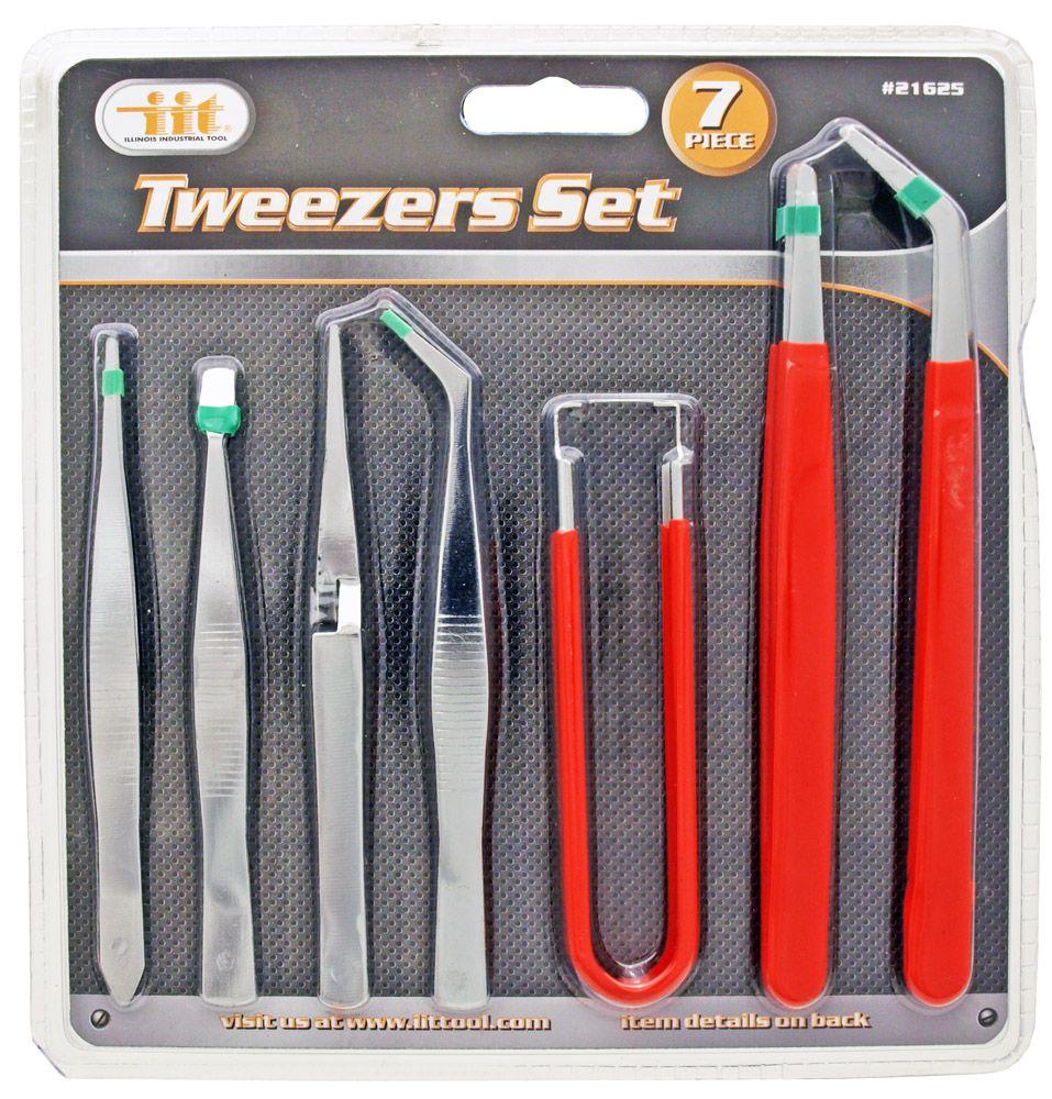 7-pc. Tweezers Set