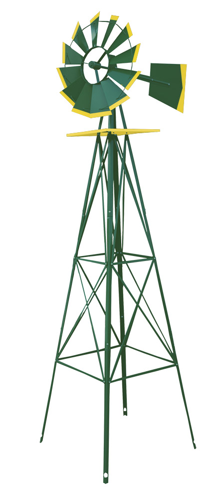 8' Wind Mill - Green and Yellow
