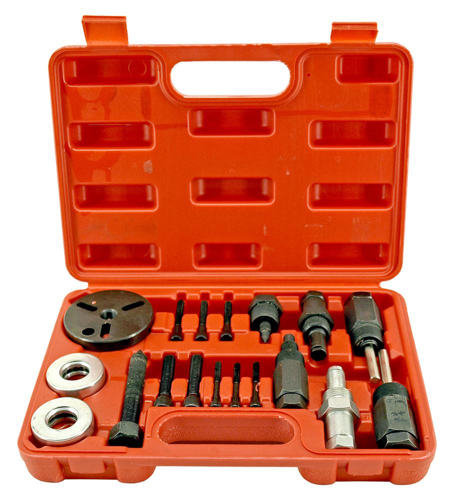 18 - pc. A/C Compressor Clutch HUB Puller Plates Tools