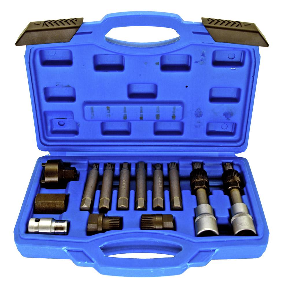 13 - pc. Alternator Pulley Kit