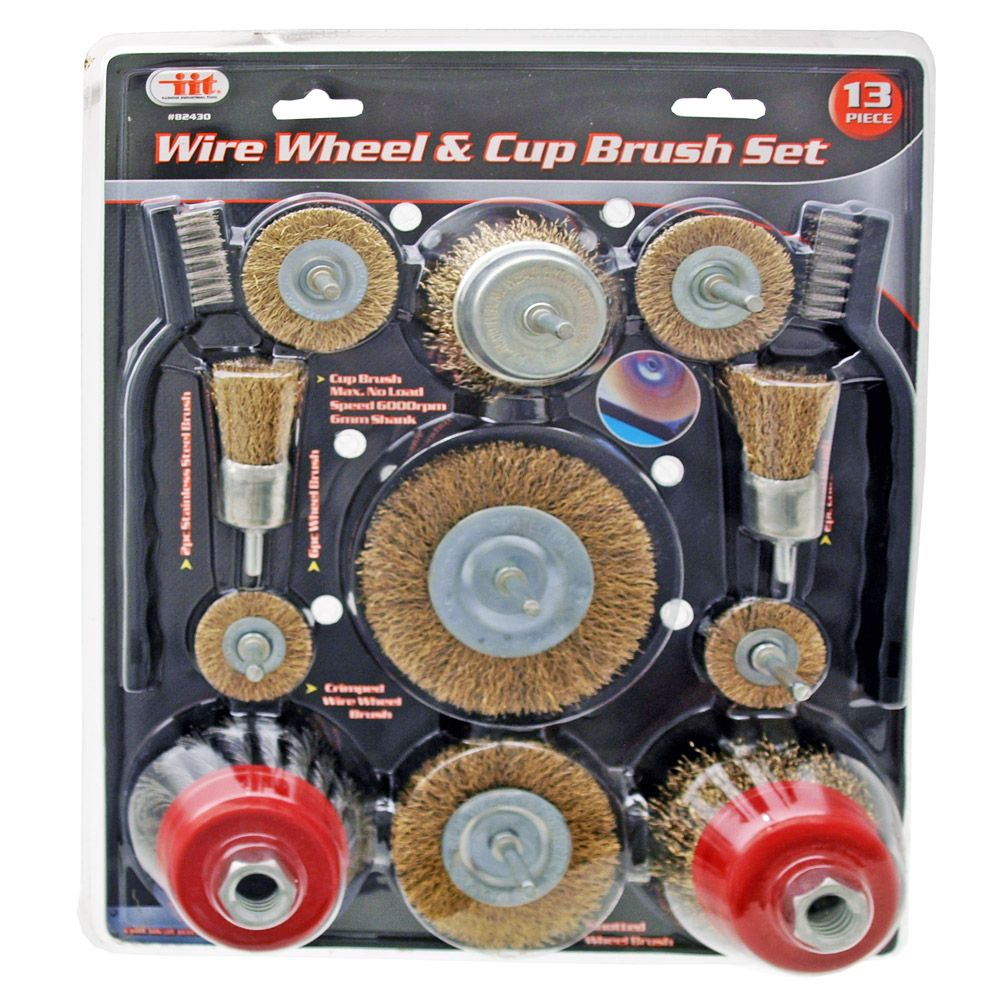 13-pc. Wire Wheel Brush Set