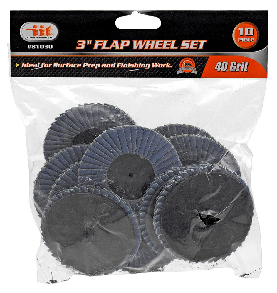 3 in Flap Wheel Set - 40 Grit