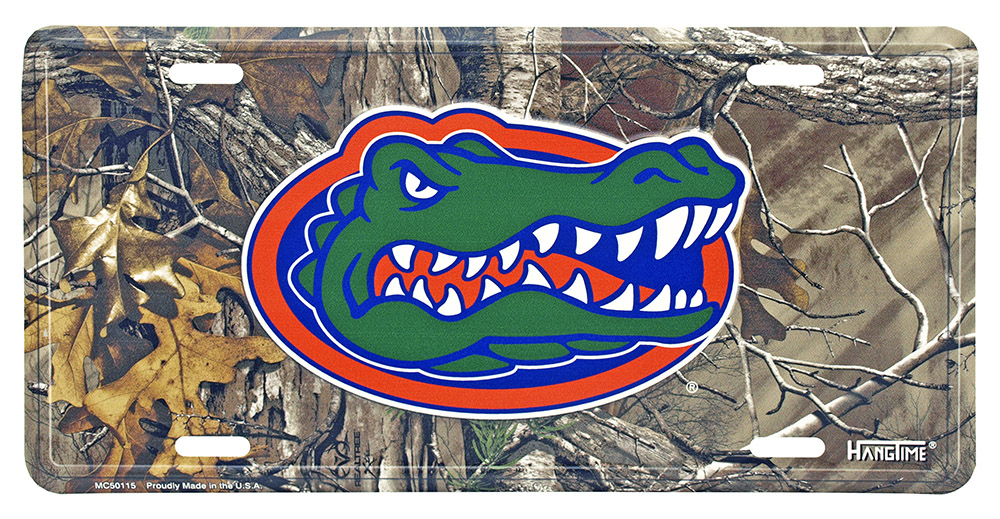 Florida Gators Real Tree Camo License Plate
