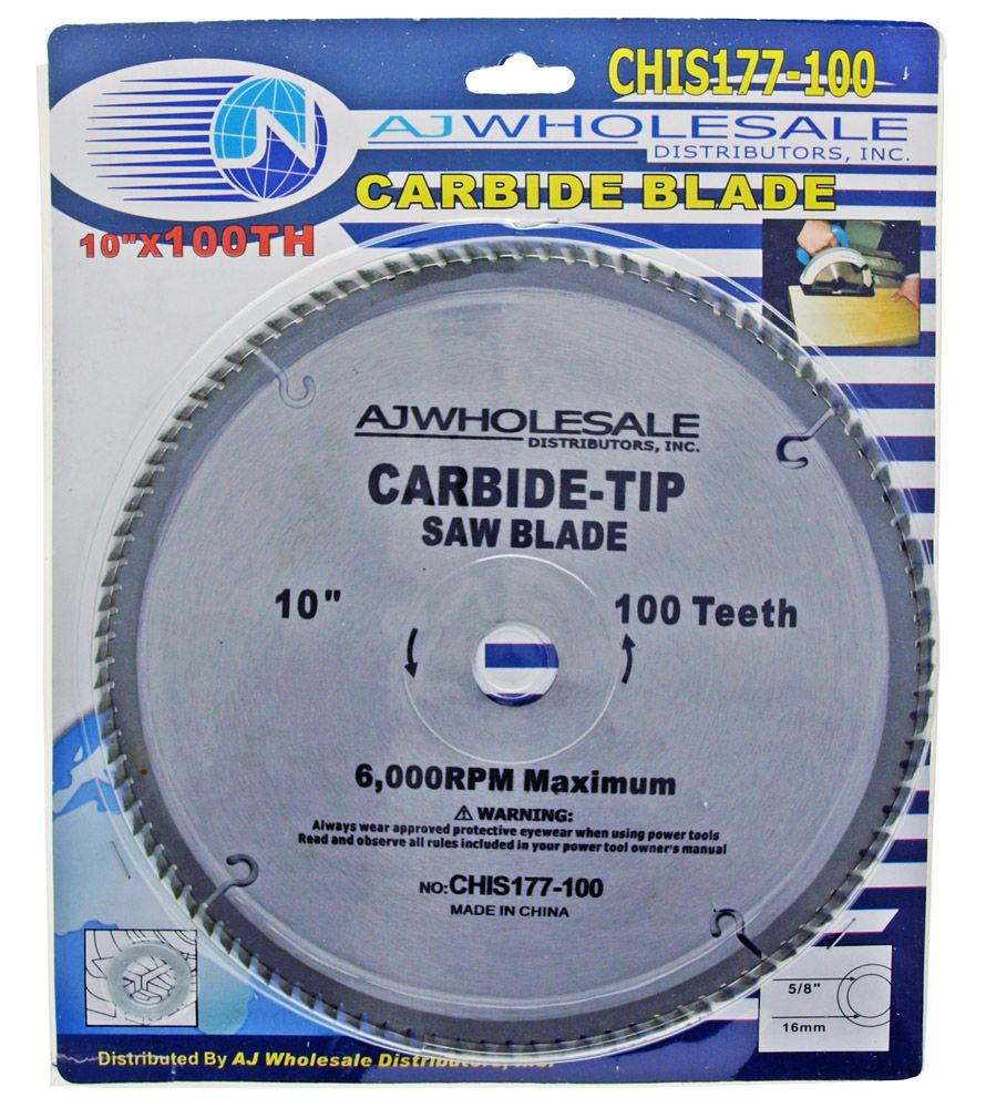 10 in x 100 Tooth Carbide Blade Circular Saw