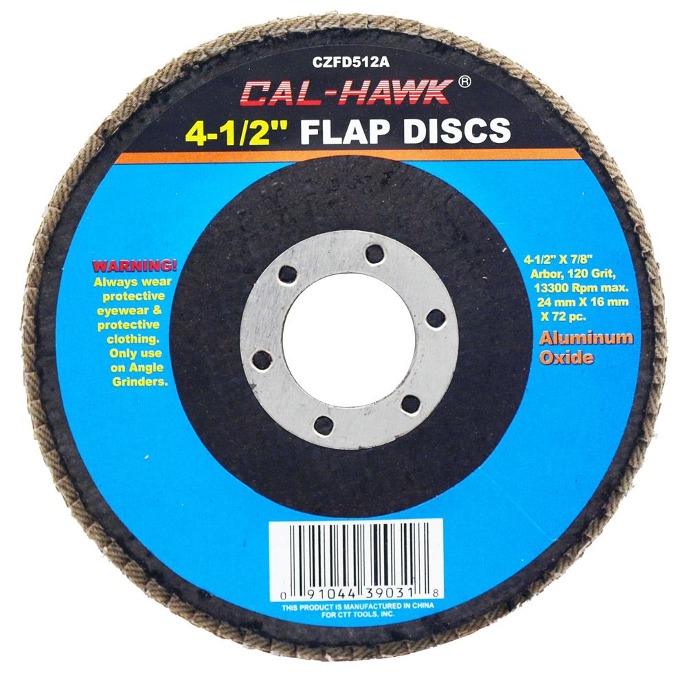 4-1/2 in Flap Disc - 120 Grit