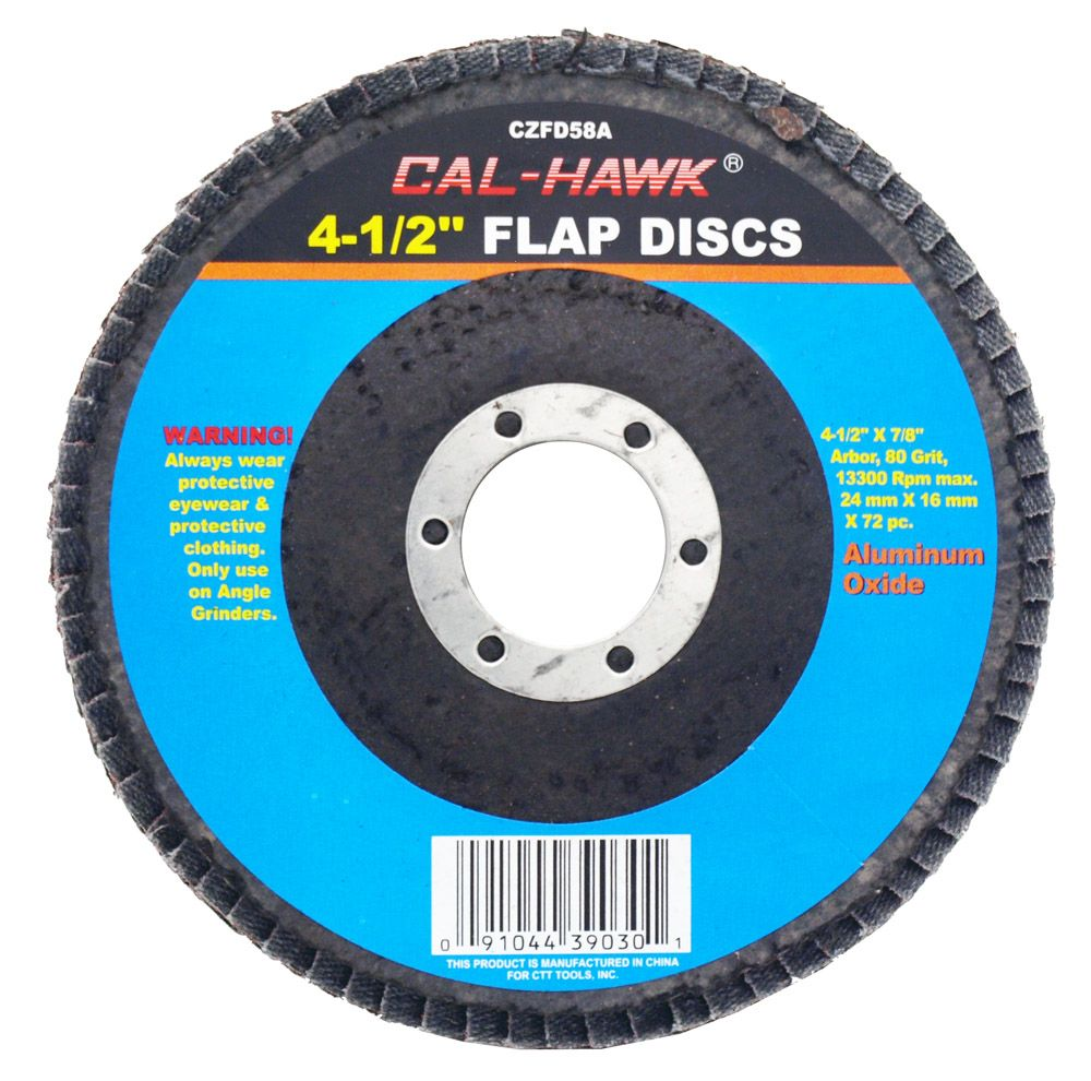 4-1/2 in Flap Disc - 80 Grit