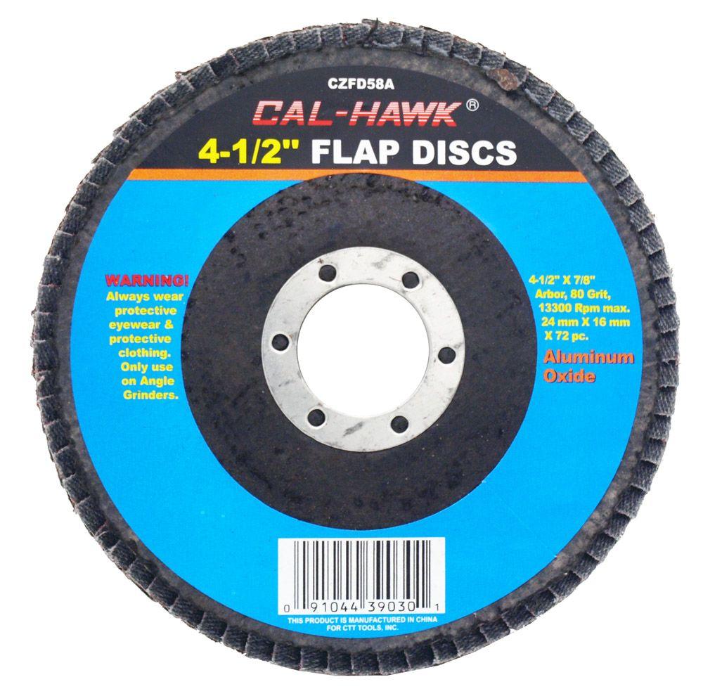 4-1/2 in Flap Disc - 80 Grit