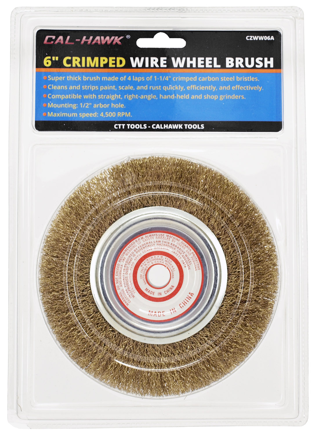 6 in Crimped Wire Wheel Brush