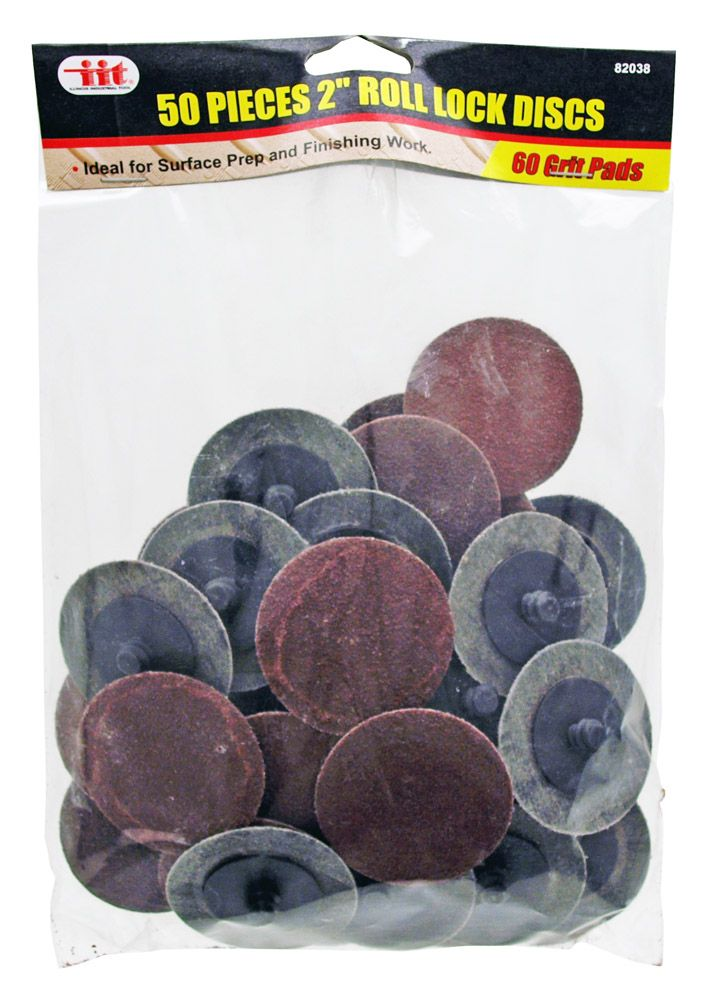 50-pc. 2 in Roll Lock Disc - 60 Grit