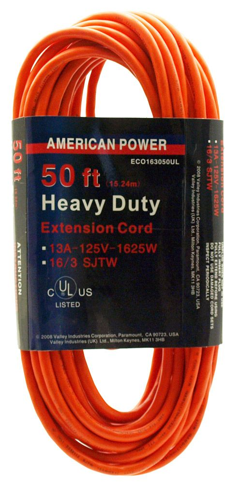 50' Heavy Duty 16/3 Extension Cord