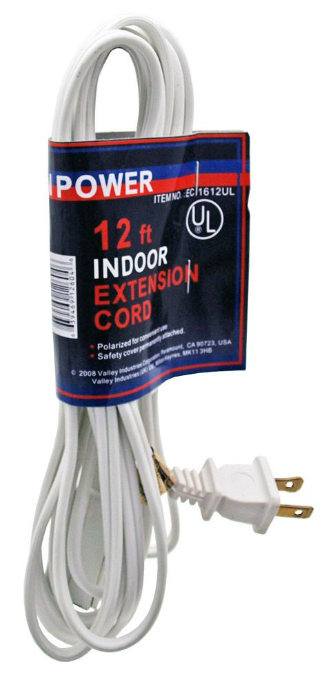 12' 16/2 Extension Cord