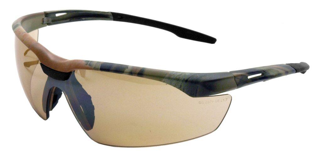 Camo Safety Glasses - Bronze Mirror
