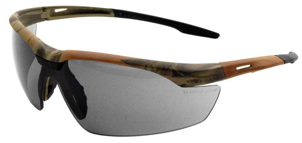 Camo Anti-Fog Safety Glasses - Smoke