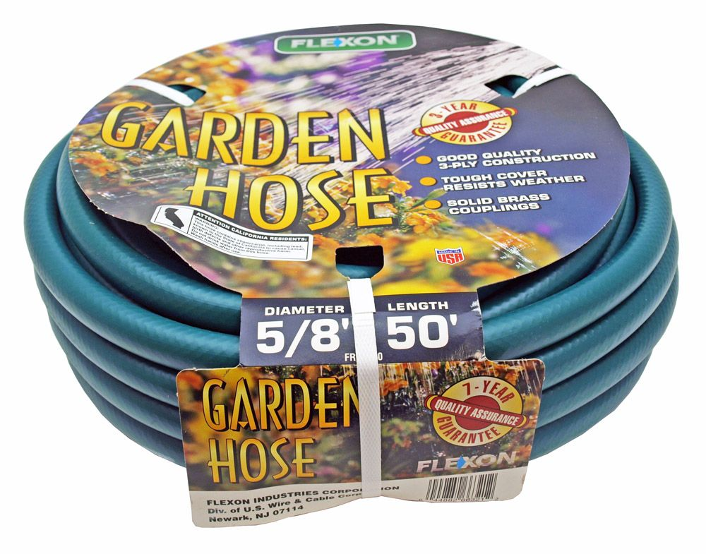 Flexon 50' x 5/8 in Garden Water Hose