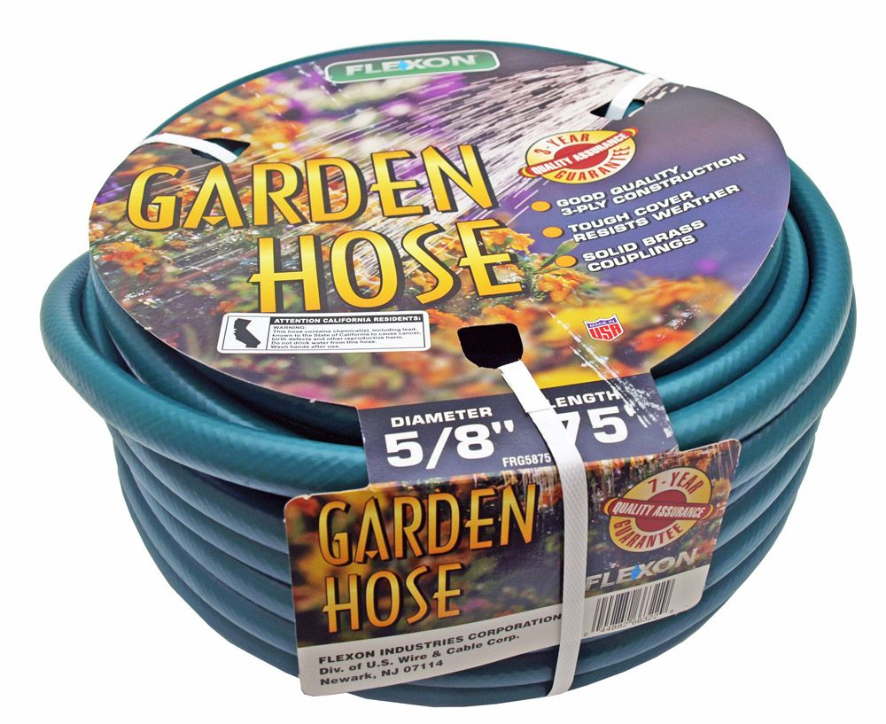 Flexon 75' x 5/8 in Garden Water Hose