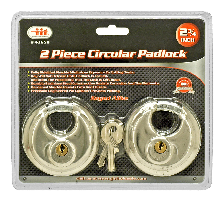 2 - pc. Circular Padlock Set