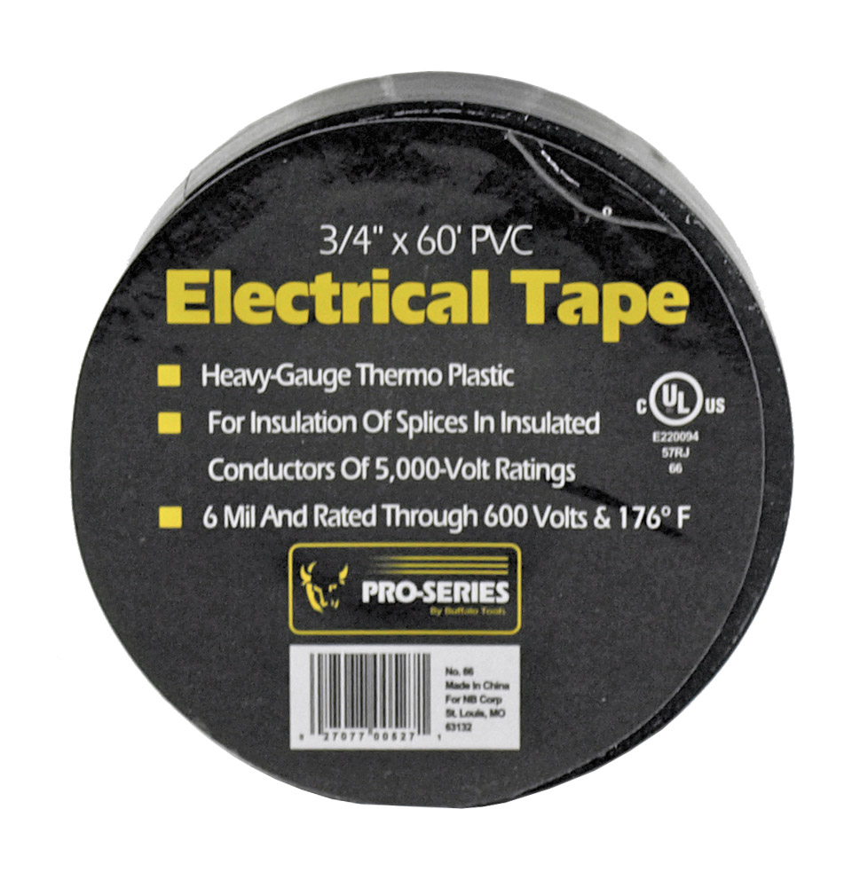 3/4 in x 60' PVC Electrical Tape