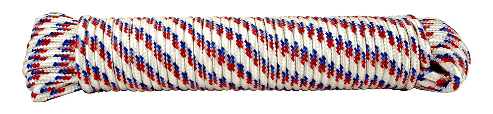 100' x .38 in Diamond Braid Poly Rope
