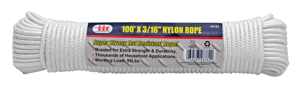 100' x 3/16 in Nylon Rope
