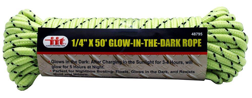 1/4 in x 50' Glow-in-the-Dark Rope