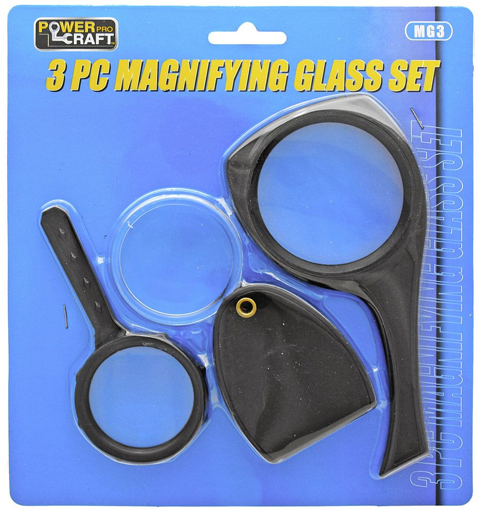 3-pc. Magnifying Glass Set