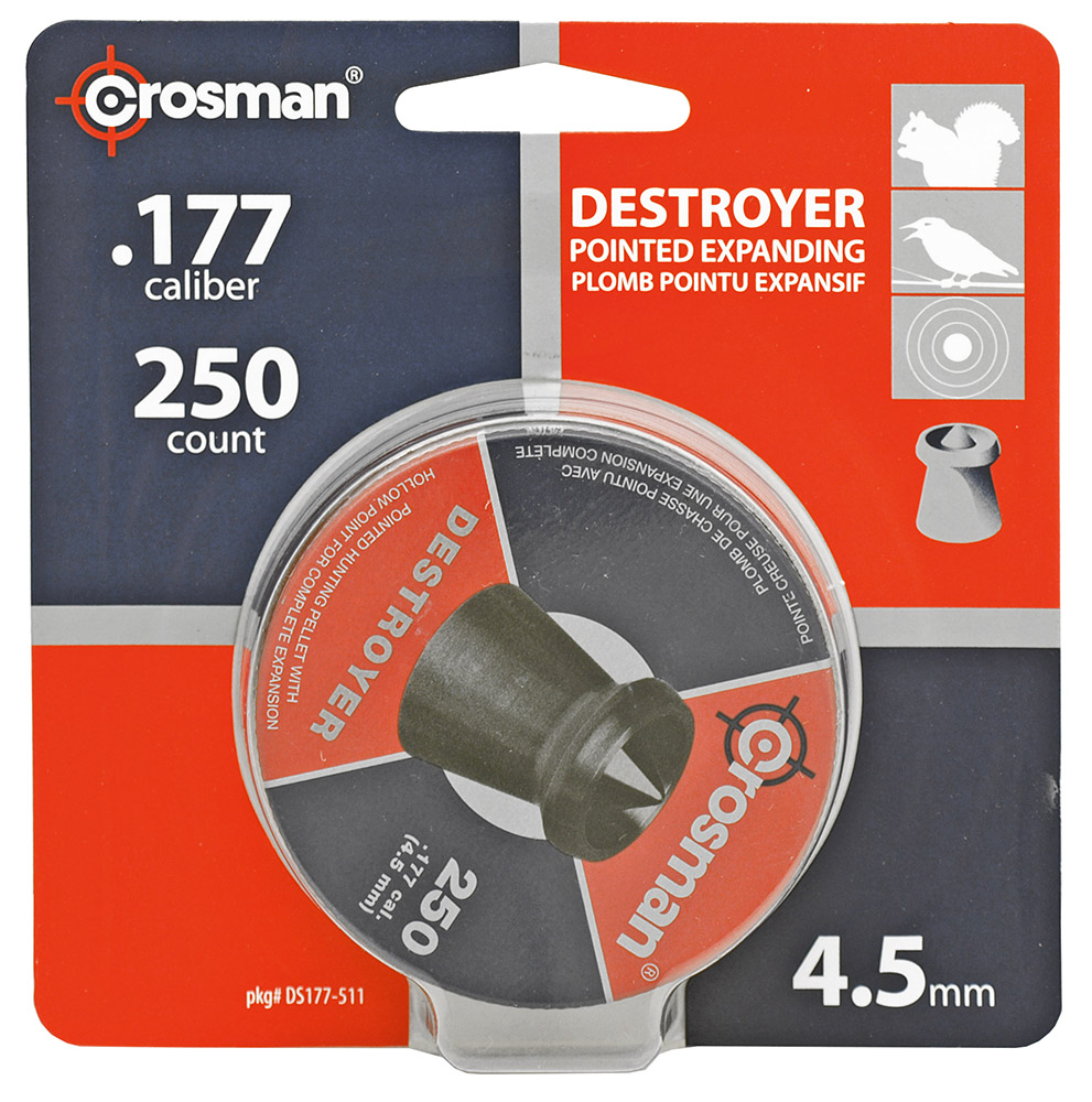 250-pc. Crosman Destroyer High Grade 4.5mm .177 Caliber Pellets