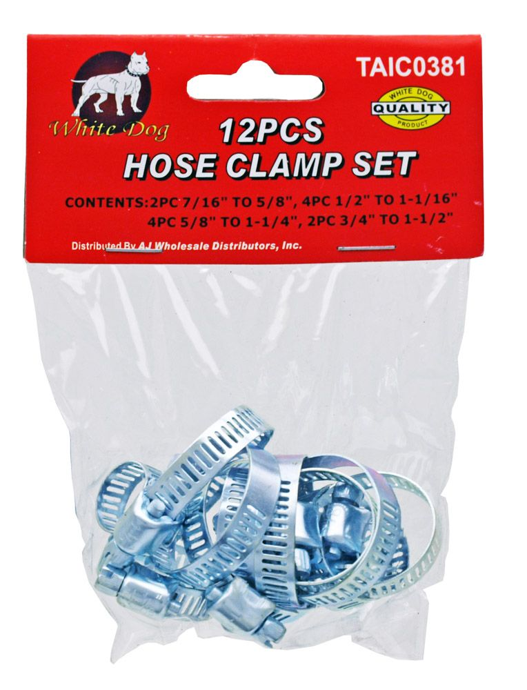 12-pc. Hose Clamp Set