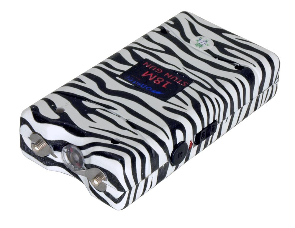 3 Million Volt Stun Gun - Zebra Black / White