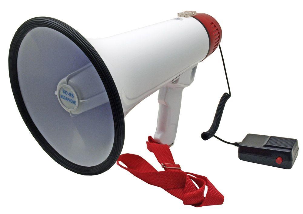 30W Bullhorn Megaphone Siren Speaker