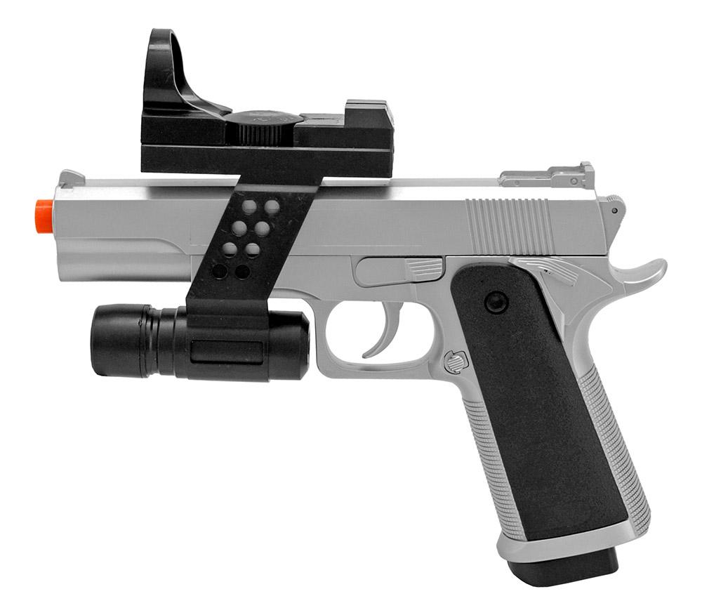 G153SAF Spring Powered Airsoft Handgun - Silver